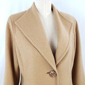 Marc Bouwer Camel Wool Coat